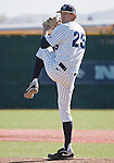 February 24, 2012:   Nevada Wolf Pack starting pitcher Bradey Shipley throws against the Utah Valley Wolverines during  their NCAA baseball game played at Peccole Park on Friday afternoon in Reno, Nevada.
