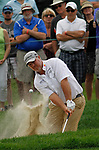 Cromwell, CT-25 JUNE 25 2017-062517MK15 Boo Weekley chips out of the bunker to sink a birdie on the 7th hole at the final round of the 2017 Travelers Championship at the TPC River Highlands in Cromwell. Michael Kabelka / Republican-American