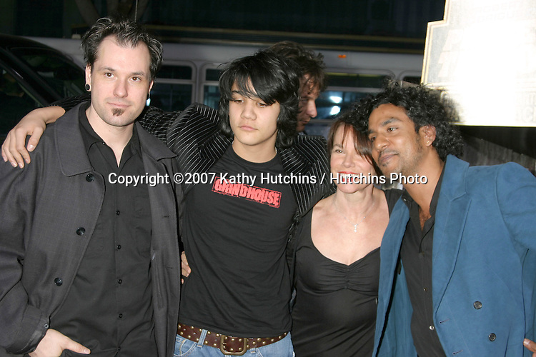 "Barbara Hershey & Naveen Andrews, and their sons.""Grindhouse"" Los Angeles Premiere.Orpheum  Theater.Los Angeles, CA.March 25, 2007.©2007 Kathy Hutchins / Hutchins Photo."
