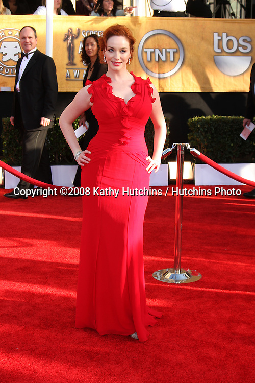 Christine Hendricks . arriving at the Screen Actors Guild Awards, at the Shrine Auditorium in Los Angeles, CA on .January 25, 2009.©2008 Kathy Hutchins / Hutchins Photo..