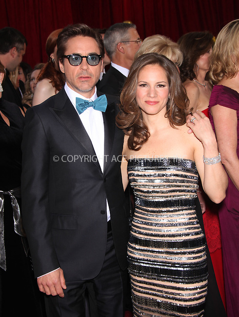 WWW.ACEPIXS.COM . . . . .  ....March 7 2010, Hollywood, CA....Robert Downey Jr and Susan Downey arriving at the 82nd Annual Academy Awards held at Kodak Theatre on March 7, 2010 in Hollywood, California.....Please byline: Z10-ACE PICTURES... . . . .  ....Ace Pictures, Inc:  ..Tel: (212) 243-8787..e-mail: info@acepixs.com..web: http://www.acepixs.com