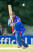 ICC World T20 Qualifier - GROUP B MATCH - AFGHANISTAN v UAE at Grange CC, Edinburgh - Afghanistan bat Mohammad Shazad who made 74 and was awarded Man of the Match — credit @ICC/Donald MacLeod - 10.07.15 - 07702 319 738 -clanmacleod@btinternet.com - www.donald-macleod.com