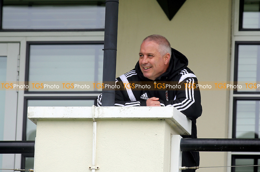 Fulham's caretaker manager, Kit Symons, watches Fulham Under 21's beat Liverpool - Fulham Under-21 vs Liverpool Under-21 - Barclays Under-21 Premier League Football at Motspur Park Training Ground, Surrey - 26/10/14 - MANDATORY CREDIT: Paul Dennis/TGSPHOTO - Self billing applies where appropriate - contact@tgsphoto.co.uk - NO UNPAID USE
