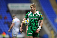 Scott Steele of London Irish looks on during a break in play. Aviva Premiership match, between London Irish and Exeter Chiefs on February 21, 2016 at the Madejski Stadium in Reading, England. Photo by: Patrick Khachfe / JMP