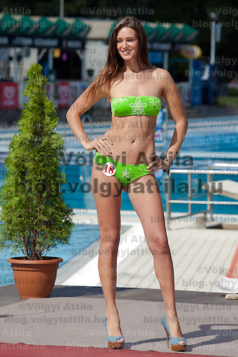 Julianna Horvath participates the Miss Bikini Hungary beauty contest held in Budapest, Hungary on August 29, 2010. ATTILA VOLGYI