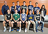 The Newsday All-Long Island varsity boys volleyball team poses for a group  photo shoot at company headquarters on Tuesday, Dec. 6, 2016. Appearing are, FRONT ROW, FROM LEFT: Josh Levine - Bellmore JFK, Matt Lilley - Ward Melville, Ryan Byrne - Eastport South Manor (Player of the Year), Alec Helford - Massapequa and Sean Hannett - Sachem North. BACK ROW, FROM LEFT: Coach Mike Legge - Smithtown West, Chris Shanley - Smithtown West, Chris Parker - Northport, Jason Koehler - Lindenhurst, Ethan Klein - Plainview JFK, Daniel Kim - Plainview JFK and Coach Russi Villalta - Plainview JFK.