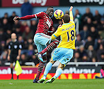 West Ham's Diafra Sakho tussles with Crystal Palace's James McCarthur<br /> <br /> Barclays Premier League - West Ham United  vs Crystal Palace  - Upton Park - England - 28th February 2015 - Picture David Klein/Sportimage