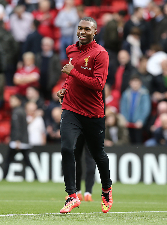 Liverpool's Daniel Sturridge during the pre-match warm-up <br /> <br /> Photographer Rich Linley/CameraSport<br /> <br /> The Premier League - Liverpool v Manchester United - Saturday 14th October 2017 - Anfield - Liverpool<br /> <br /> World Copyright &copy; 2017 CameraSport. All rights reserved. 43 Linden Ave. Countesthorpe. Leicester. England. LE8 5PG - Tel: +44 (0) 116 277 4147 - admin@camerasport.com - www.camerasport.com