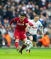 Liverpool's Emre Can during the Premier League match between Tottenham Hotspur and Liverpool at Wembley Stadium, London, England on 22 October 2017. Photo by Andrew Aleksiejczuk / PRiME Media Images.
