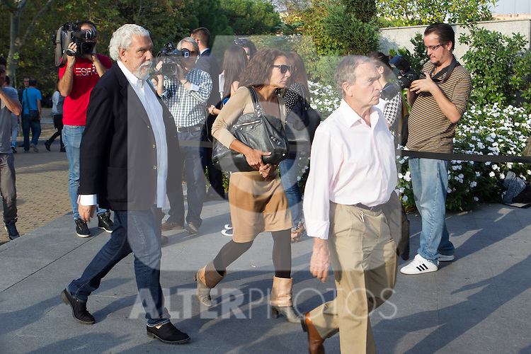 visits San Isidro funeral home following the death of Miguel Boyer in Madrid, Spain. September 29, 2014. (ALTERPHOTOS/Victor Blanco)