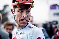 2nd Place finisher Nils Pollit (GER/Katusha Alpecin) post race. <br /> <br /> 117th Paris-Roubaix (1.UWT)<br /> 1 Day Race: Compiègne-Roubaix (257km)<br /> <br /> ©kramon