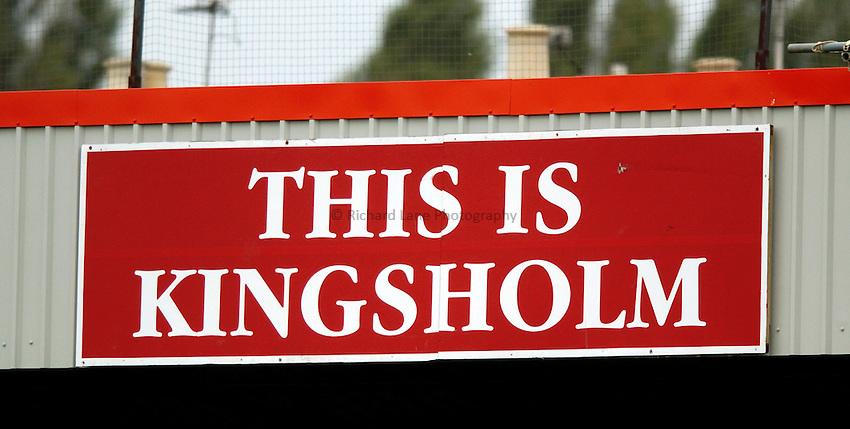 "Photo. Richard Lane..Gloucester v Newcastle Falcons. Zurich Premiership.  25/09/2004..""This is Kingsholm"" sign."