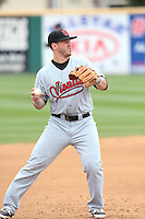 George Roberts (3) of the Visalia Rawhide in the field during a game against the Rancho Cucamonga Quakes at LoanMart Field on May 6, 2015 in Rancho Cucamonga, California. Visalia defeated Rancho Cucamonga, 7-2. (Larry Goren/Four Seam Images)