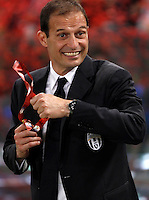 Calcio, finale Tim Cup: Milan vs Juventus. Roma, stadio Olimpico, 21 maggio 2016.<br /> Juventus coach Massimiliano Allegri smiles at the end of the Italian Cup final football match between AC Milan and Juventus at Rome's Olympic stadium, 21 May 2016. Juventus won 1-0 in the extra time.<br /> UPDATE IMAGES PRESS/Isabella Bonotto