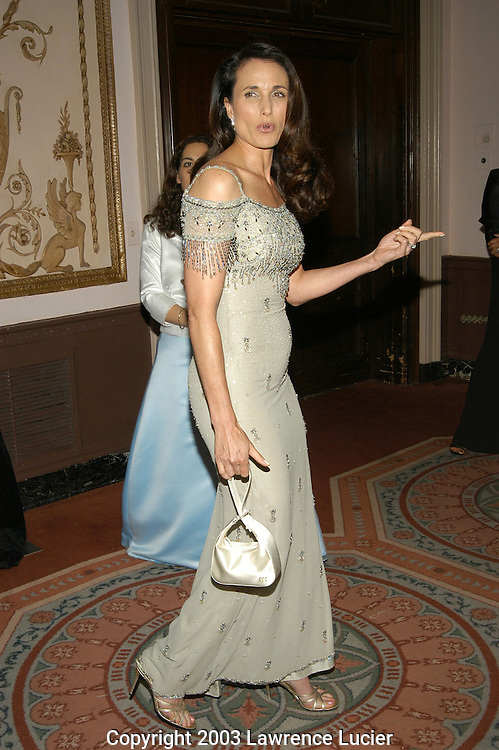 Andie MacDowell in a drewss by Escada