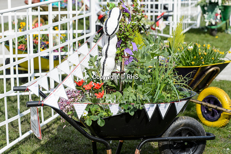St.Paul's Church School in the Schools Wheelbarrow Competition at the RHS Show Cardiff 2016.