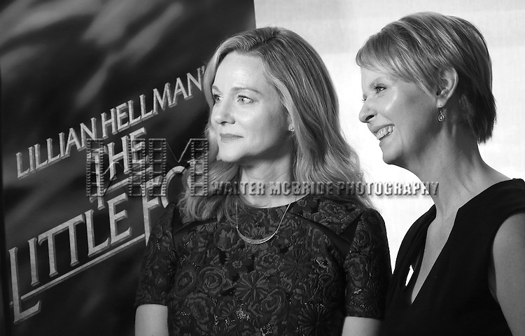 Laura Linney and Cynthia Nixon attends the cast photo call for the Manhattan Theatre Club's New Broadway Production of 'The Little Foxes' at the MTC Rehearsal studios on February 27, 2017 in New York City.