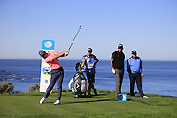Rory McIlroy (NIR) tees off the 4th tee at Spyglass Hill during Thursday's Round 1 of the 2018 AT&amp;T Pebble Beach Pro-Am, held over 3 courses Pebble Beach, Spyglass Hill and Monterey, California, USA. 8th February 2018.<br /> Picture: Eoin Clarke | Golffile<br /> <br /> <br /> All photos usage must carry mandatory copyright credit (&copy; Golffile | Eoin Clarke)