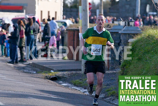 0562 Gerard O'Sullivan  who took part in the Kerry's Eye, Tralee International Marathon on Saturday March 16th 2013.