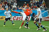 Robin van Persie of the Netherlands performs an overhead kick