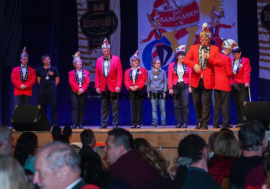 Ehrung langjähriger Mitglieder für 2x11 Jahre - Mörfelden-Walldorf 15.11.2019: Eröffnungssitzung der Sandhasen