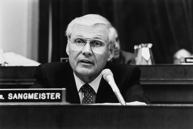 Rep. George E. Sangmeister, D-Ill., on June 06, 1992. (Photo by Chris Martin/CQ Roll Call)