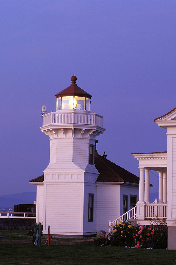 Mukilteo Light at twilight, Mukilteo, Washington