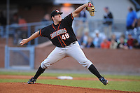 Matt Hobgood #48 Pitcher Delmarva Shorebirds (Orioles) May 1, 2010 Photo By Tony Farlow/Four Seam Images