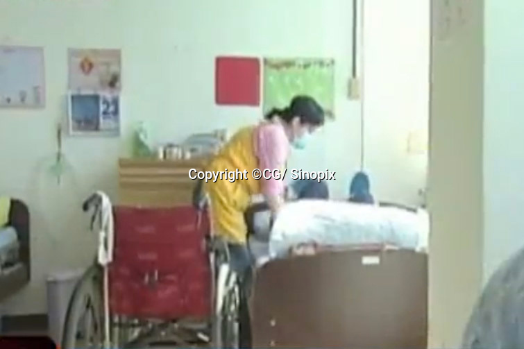 Hospices in Taichung, Taiwan that are preyed upon by criminal betting syndicates that bet upon the the survival times of people with terminal cancer, Taichung, Taiwan.<br /> <br /> Please credit:  Sinopix