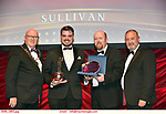 16-6-2019:  Our House-Galway Musical Society at the annual AIMS (Association of Irish Musical Societies) in the INEC Killarney at the weekend receiving the trophy from Seamus Power, President, AIMS left and Rob Donnelly, Vice-President and adjucator Billy Rea, right.<br /> Photo: Don MacMonagle - macmonagle.com<br /> <br /> repro free photo from AIMS<br /> <br /> AIMS PRESS RELEASE: There was plenty of glitz and glamour in Killarney on Saturday night as The Association of Irish Musical Societies has its Annual Awards Ceremony in Killarney. Over 1,500 people could be heard over the Kerry mountains as the winners were announced by MC Fergal D'Arcy. Many societies were double winners on the night including UCD Musical Society, Dublin were dancing all the way to the trophies winning Best Choreography and Best Choreographer for Leah Meagher for Cabaret and  Tullamore Musical Society who took their moment as Chris Corroon won Best Male Singer for his sinful performance as Henry Jekyll in Jekyll &Hyde and also Director Paul Norton who'd plenty to celebrate picking Best Director for  the same show. The moment was once again taken by Jekyll&Hyde by Dùn Laoighaire Musical&Dramatic Society as Kevin Hartnett took up Best Male Singer in the Sullivan category.Nenagh Youth Musical Society raised their voices high and took home Best Ensemble. It was a superior night for Enniscorthy Musical Society by winning Best Comedienne for Jennifer Byrne as Mother Superior and Best Technical too. Portlaoise Musical Society rose to the top by taking home Best Overall Show in the Gilbert section for their stunning production of Titanic. Oyster Lane Theatre Group, Wexford flew their flag high taking home Best Overall Show in the Sullivan Section for their breathtaking production of Michael Collins-a Musical Drama.<br /> Other winners on the night included Best Comedian for Ronan Walsh as Officer Lockstock in Urinetown for Trim Musical Society, Best Actress in a Supporting Role for  Roisin Lawless as Vi Moore for Footloose with