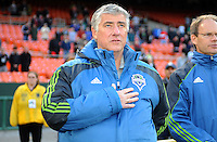Seattle Sounders Head Coach Sigi Schmid.    DC United defeated The Seattle Sounders 2-1 at  RFK Stadium, Wednesday May 4, 2011.