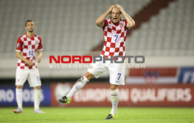 12.06.2015., Croatia, stadium Poljud, Split - Qualifying match for the European Championship to be held in 2016 in France, Group H, Round 6, Croatia - Italy.Ivan Rakitic.<br />  <br /> Foto &copy;  nph / PIXSELL / Igor Kralj;