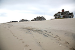 Homes on the beach in Mantoloking, New Jersey are protected by dunes recently constructed by the Army Corps of Engineers. (Bill Denver For New York Daily News)