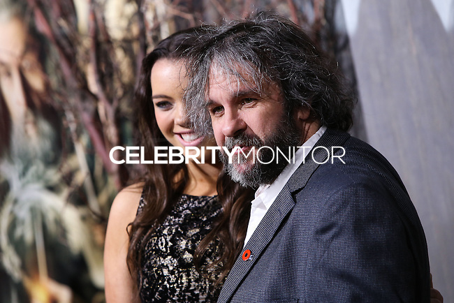 "HOLLYWOOD, CA - DECEMBER 02: Katie Jackson, Peter Jackson arriving at the Los Angeles Premiere Of Warner Bros' ""The Hobbit: The Desolation Of Smaug"" held at Dolby Theatre on December 2, 2013 in Hollywood, California. (Photo by Xavier Collin/Celebrity Monitor)"