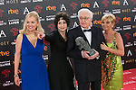 Antonio Ozores poses with Honorific Goya award during 30th Goya Awards ceremony in Madrid, Spain. February 06, 2016. (ALTERPHOTOS/Victor Blanco)