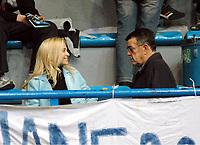 Minos Kyriakou with his with his wife Mari Konstandatou in Athens.
