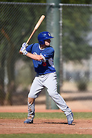 Los Angeles Dodgers designated hitter Dillon Moyer (3) during an Instructional League game against the Cincinnati Reds on October 11, 2014 at Goodyear Training Complex in Goodyear, Arizona.  (Mike Janes/Four Seam Images)
