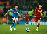 Hirving Lozano of Napoli during the UEFA Champions League match at Anfield, Liverpool. Picture date: 27th November 2019. Picture credit should read: Andrew Yates/Sportimage