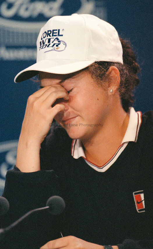 Photo. Abbey Wells.Austrailan Open, Melbourne, Austraila, 1996..Monica Seles