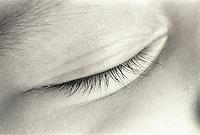 eyelash,detail of babies closed eye