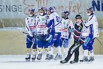 Bolln&auml;s 2014-01-17 Bandy  Bolln&auml;s GIF - Villa Lidk&ouml;ping BK :  <br /> Villa Lidk&ouml;ping Daniel Andersson gratuleras av lagkamrater efter sitt 1-0 m&aring;l<br /> (Foto: Kenta J&ouml;nsson) Nyckelord:  jubel gl&auml;dje lycka glad happy