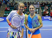 Rotterdam, Netherlands, December 18, 2016, Topsportcentrum, Lotto NK Tennis,  Final lady's single: Arantxa Rus vs Bibiane Schoofs (R) <br /> Photo: Tennisimages/Henk Koster