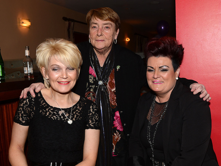 Pat Donaghy celebrating her 70th birthday in Tommy Hanratty's with friends Fiona Murtagh and Elaine O'Brien. Photo:Colin Bell/pressphotos.ie