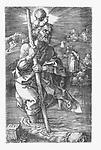 Saint Christopher carrying the Christ Child, Albrecht Dürer, 1521