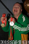 Abig welcome for Mark Bolger as he returned from Poland in the Special Olympic with Gold, Sliver and Bronze medals his fellow Tralee Together special olympician gave him a great cheer as he arrived at Cuman Iosaef on Saturday...................