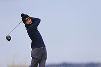 Conor Ryan (Dun Laoghaire) during the first round of matchplay at the 2018 West of Ireland, in Co Sligo Golf Club, Rosses Point, Sligo, Co Sligo, Ireland. 01/04/2018.<br /> Picture: Golffile | Fran Caffrey<br /> <br /> <br /> All photo usage must carry mandatory copyright credit (&copy; Golffile | Fran Caffrey)