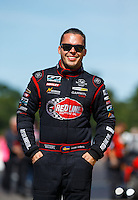 Aug 21, 2016; Brainerd, MN, USA; NHRA  top alcohol funny car driver Jonnie Lindberg during the Lucas Oil Nationals at Brainerd International Raceway. Mandatory Credit: Mark J. Rebilas-USA TODAY Sports