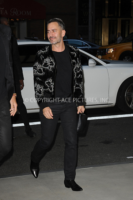 www.acepixs.com<br /> September 8, 2016  New York City<br /> <br /> Marc Jacobs attending the The Daily Front Row's 4th Annual Fashion Media Awards at Park Hyatt New York on September 8, 2016 in New York City. <br /> <br /> <br /> Credit: Kristin Callahan/ACE Pictures<br /> <br /> <br /> Tel: 646 769 0430<br /> Email: info@acepixs.com