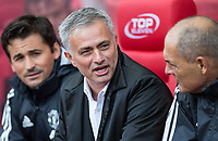 Man Utd Manager Jose Mourinho during the Premier League match between Stoke City and Manchester United at the Britannia Stadium, Stoke-on-Trent, England on 9 September 2017. Photo by Andy Rowland.