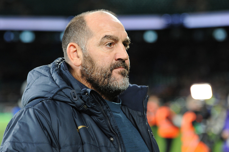 Argentina Head Coach Mario Ledesma looks dejected after losing the Killik Cup match between the Barbarians and Argentina at Twickenham Stadium on Saturday 1st December 2018 (Photo by Rob Munro/Stewart Communications)